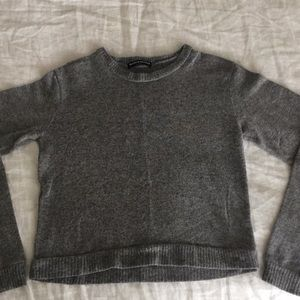 Grey cropped sweater from Brandy Melville